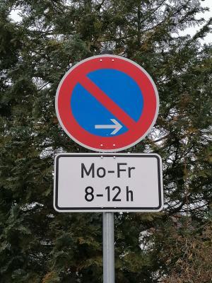 Foto zur Meldung: Parkverbot in der Wilhelm-Leibl-Straße wechselt die Straßenseite