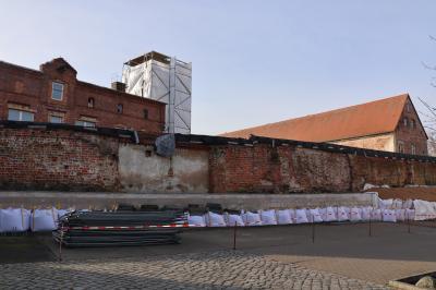 Vorschaubild zur Meldung: Stadtmauer im Klosterviertel wird saniert