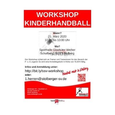 Vorschaubild zur Meldung: Workshop Kinderhandball | 21. März 2020
