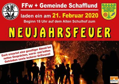 Foto zur Meldung: Neujahrsfeuer in Schafflund