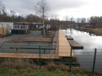 Foto zur Meldung: Sanierung Steganlage Wasserwanderrastplatz Marlow an der Recknitz ist abgeschlossen.