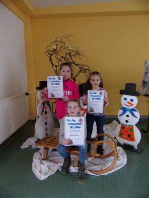 Vorschaubild zur Meldung: Sieger der Vorlesewettbewerbe an der Grundschule Mühlberg