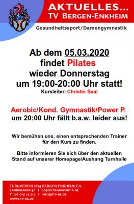 Pilates geht wieder los