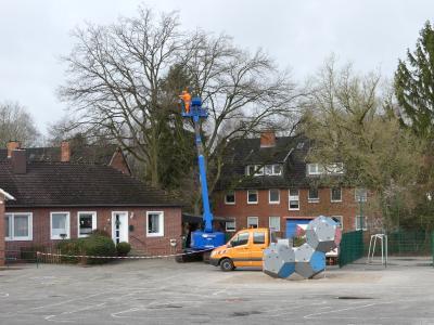 Vorschaubild zur Meldung: Bauarbeiten an der Kirchschule