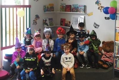 Die Kinder der Kita Märchenland feierten Fasching in der Stadtbibliothek I Foto: Stadtbibliothek Wittenberge