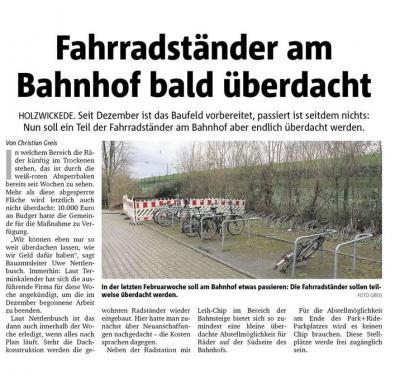 Bericht des Hellweger Anzeiger vom 26.02.2020