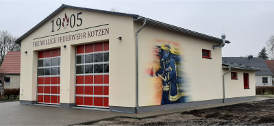 neues Feuerwehrgerätehaus in Kotzen
