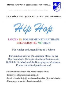 Vorschaubild zur Meldung: Hip-Hop  -  Für Kinder und Jugenliche ab 9 Jahren