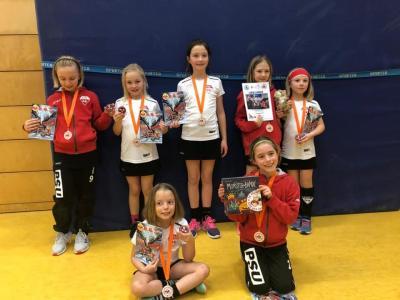 Foto zur Meldung: 4. Platz für die Mädchen D beim Abrafaxe Cup