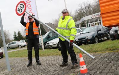 Foto zur Meldung: Tempo 50 für mehr Sicherheit am Lok-Sportplatz