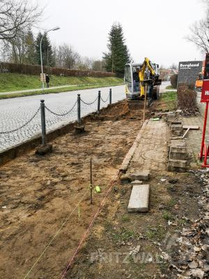 Foto zur Meldung: Gehweg in der Schlachthausstraße wird saniert