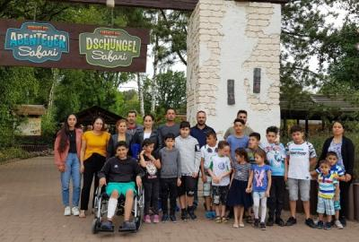 Ausflug mit Flüchtlingsfamilien