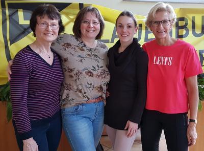 von links: Heide Rauch/Schriftwartin, Bianka Steinhagen/2. Vorsitzende, Sabrina Frahne/Kassenwartin, Marion Grundmann/1. Vorsitzende