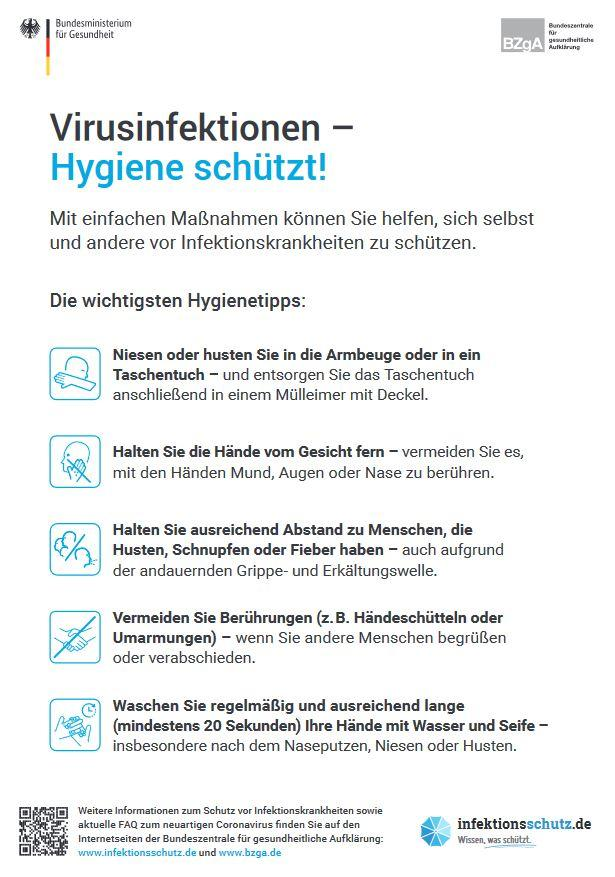 Bild der Meldung: Virusinfektionen - Hygiene schützt
