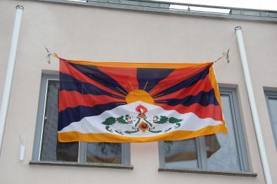 Alheim zeigt Flagge für Tibet