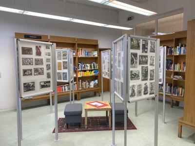 Ausstellung der Neujahrsgrafik-Sammlung von Georg Ladendorf in der Stadtbibliothek Sassnitz