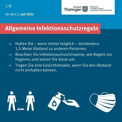 Allgemeine Infektionsschutzregeln ab 01.07.2021