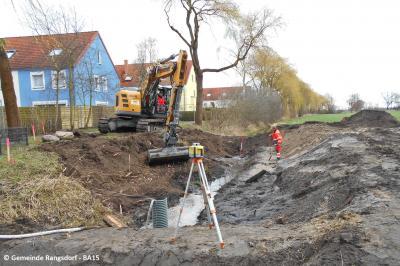 Vorschaubild zur Meldung: Durchlass am Schustergraben wird gebaut