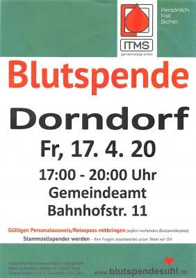 Vorschaubild zur Meldung: Blutspende Dorndorf