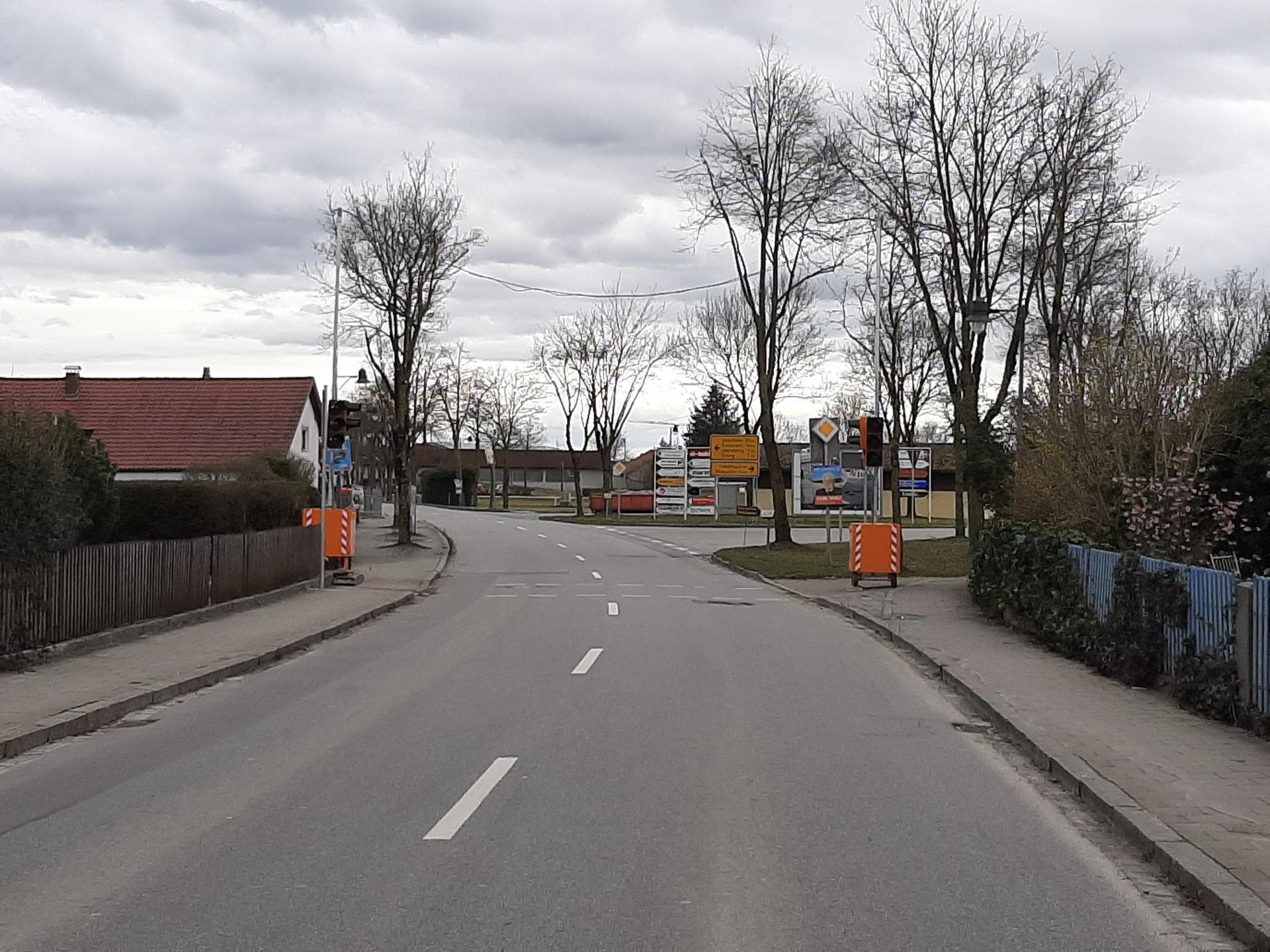 Bild der Meldung: Fußgängerampel in der Moosfürther Straße