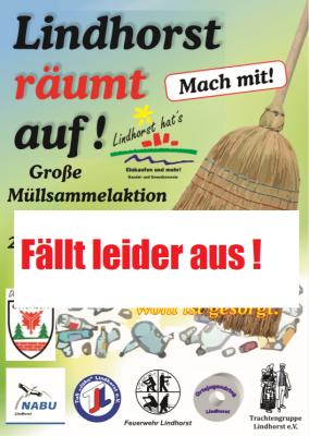 """Vorschaubild zur Meldung: Müllsammelaktion """"Lindhorst räumt auf ....."""" abgesagt."""