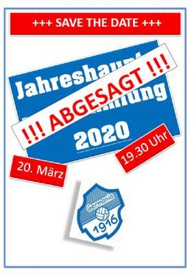 Vorschaubild zur Meldung: Vorstand - Jahreshauptversammlung 2020 +++ ABGESAGT +++