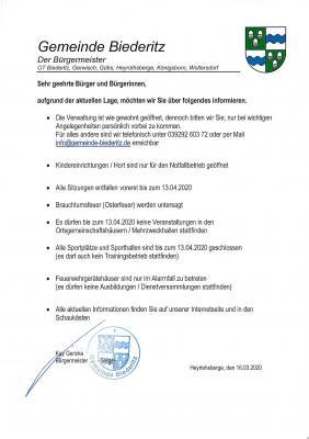 Bürgerinfomartion 2020-03-16