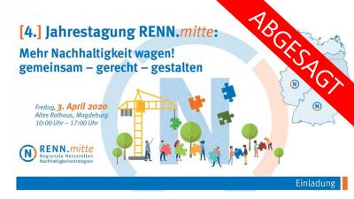 Vorschaubild zur Meldung: ABGESAGT! 4. Jahrestagung RENN.mitte