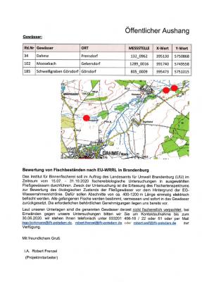 Vorschaubild : Bewertung von Fischbeständen nach EU-WRRL in Brandenburg