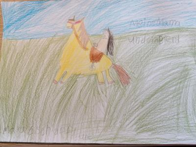 Foto zur Meldung: Das erste gemalte Bild