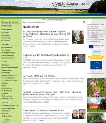 Vorschaubild zur Meldung: Die Homepage erhält ein neues Design
