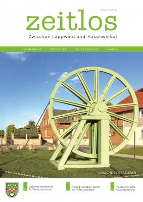"""Titelblatt der aktuellen Ausgabe von """"zeitlos"""""""