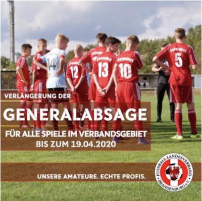 Foto zur Meldung: Fußball: FLB setzt Spielbetrieb bis 19. April 2020 weiterhin aus