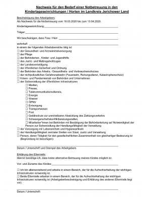 2020-03-18_Nachweis für den Bedarf einer Notbetreuung in den Kindertageseinrichtungen