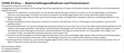 Vorschaubild zur Meldung: Mitteilung vom Landesfischereiverband Bayern