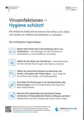 Virusinfektion - Hygiene schützt!