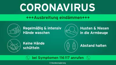Vorschaubild zur Meldung: Das Corona-Virus hat die Welt fest im Griff