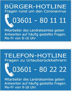 Vorschaubild zur Meldung: Corona Telefonhotline des Landkreises