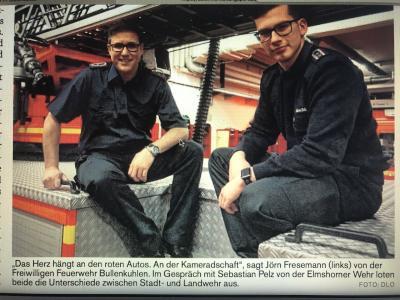 Foto zur Meldung: FF Elmshorn und die FF Bullenkuhlen