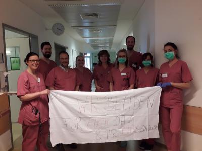 Vorschaubild zur Meldung: Klinikum Niederlausitz bittet: Bleibt zu Hause – wir bleiben für euch hier