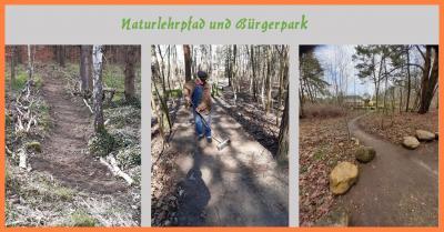 Foto zur Meldung: Naturlehrpfad und Bürgerpark