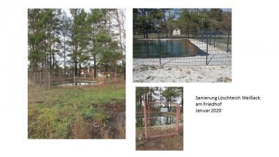 Vorschaubild zur Meldung: Löschteich in Weißack wurde saniert