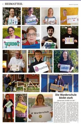 Beitrag in der Heiligenhafener Post, 8.4.20