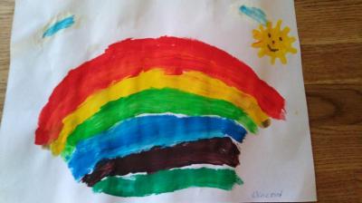 Foto zur Meldung: Regenbogen von Vincent - Vorschulkind