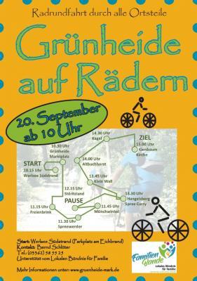 Vorschaubild zur Meldung: 5. Grünheide auf Rädern am 20. September