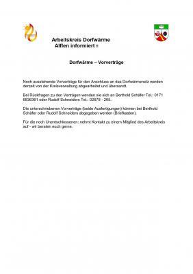 Vorschaubild zur Meldung: Aktuelle Informationen zu Vorverträge