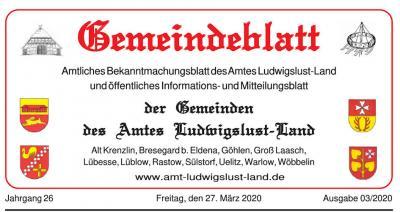 Foto zur Meldung: Im April 2020 wird es kein Gemeindeblatt geben!