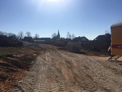 """Foto zur Meldung: Baubeginn im Wohnbaugebiet """"Lindenhardt-West-Erweiterung BA II"""""""