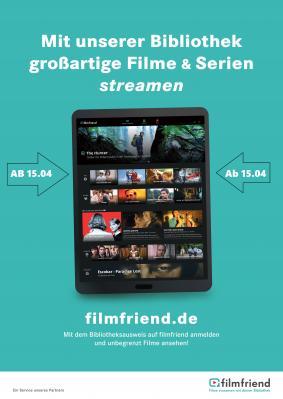 Foto zur Meldung: Neu in der Gemeindebücherei Satrup: Filmstreaming für Filmfreunde