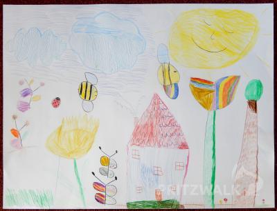 Foto zur Meldung: Kita Kinderland und Senioren tauschen Ostergrüße